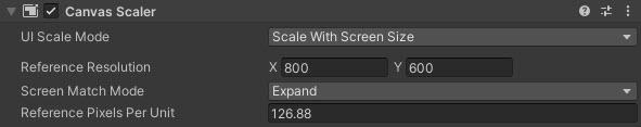 Scale With Screen Size Ayarı