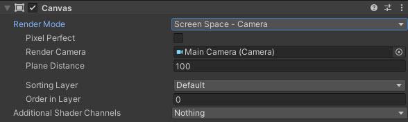 Screen Space - Camera Ayarları