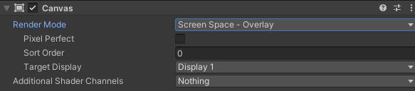 Screen Space - Overlay Ayarları