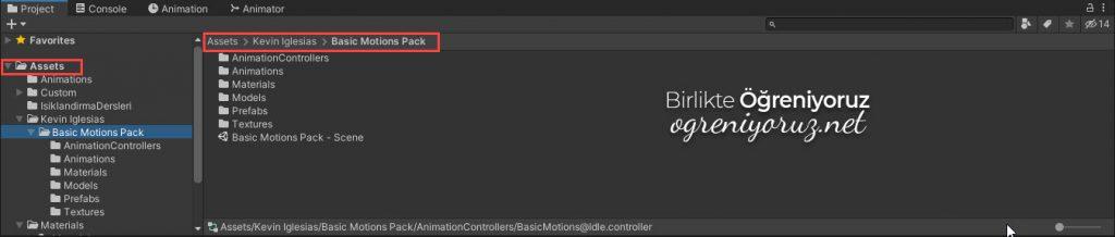Basic Motions FREE Pack Klasör Yapısı