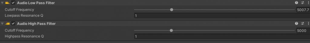 audio low high pass filter ayarlari