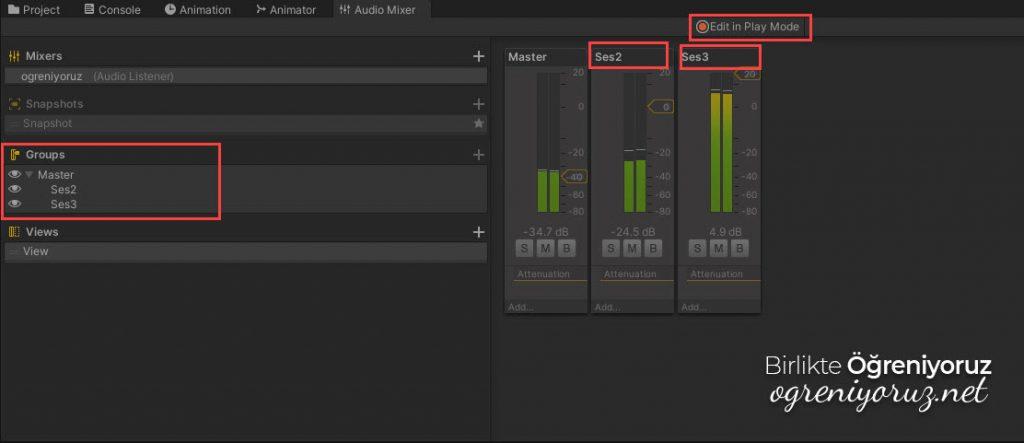 Audio Mixer Grup Yapısı