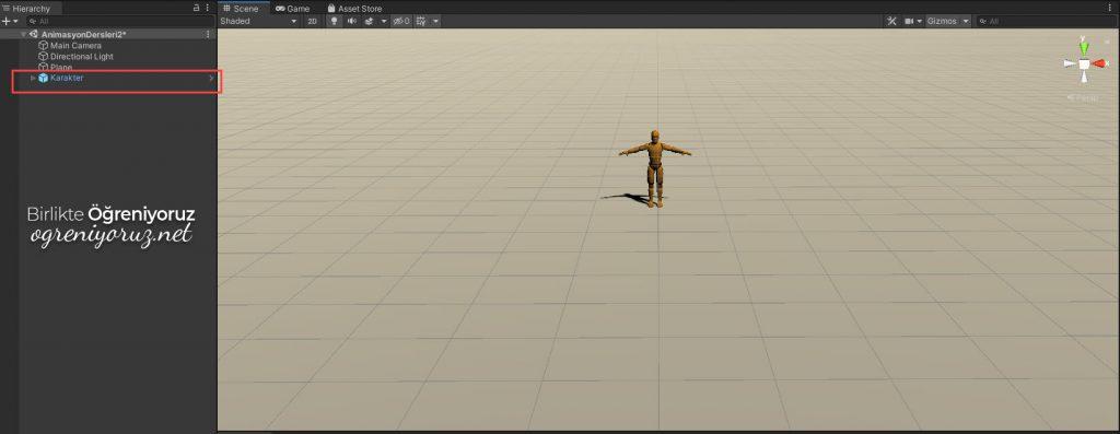 Unity Animator Controller için Hazırlık